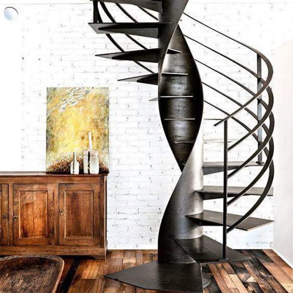 spiral metal stairs