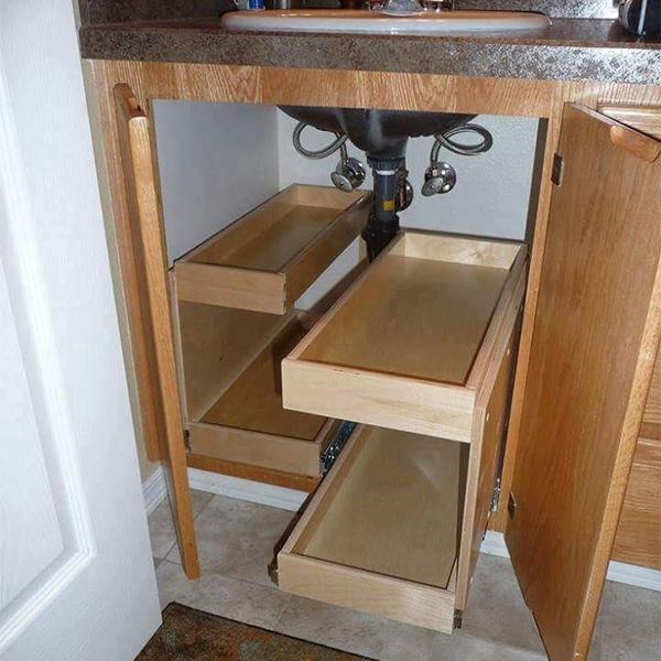 under sink shelves